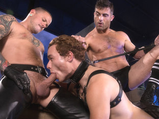 Pig Puppy featuring Lance Hart, Micky Mackenzie, Max Cameron - FistingCentral