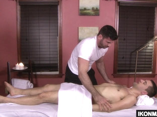 Josh Stone Gets A Wood During His Massage
