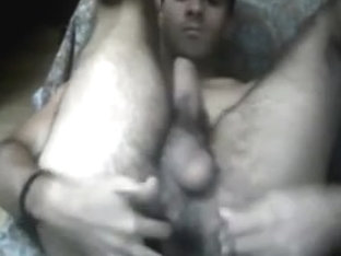 Greek bisex boy fingering his tight round ass on cam