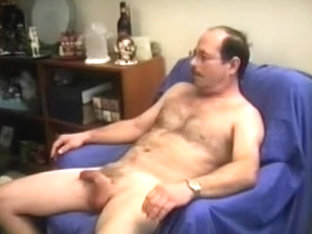 Nasty mandy plays with his cock