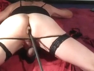 new fucking machine session and a little cum