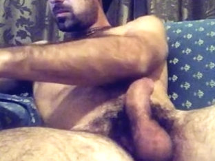 Hairy italian man wanks off