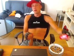 Some Other Smoke and Jerk Off in front of webcam