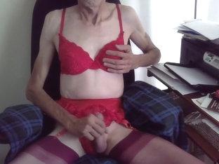 Wanking in Red