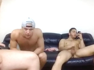 3 Handsome Str8 Canadian Boy Masturbation And Cum On Cam