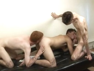 Soccer lads in bareback sex action in the dorm