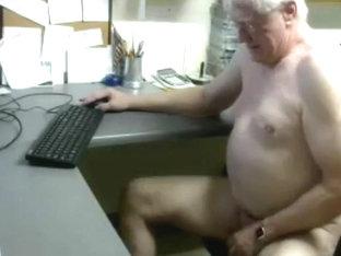 Grandpa cum on cam 15