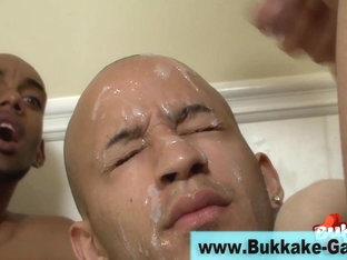 Cock riding gay guy bukkaked