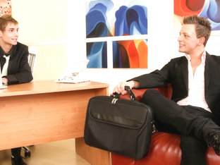 Martin Corvin & Dolce Dave in Office Twinks Video