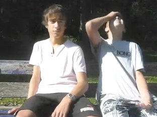 Teens Fun In Public Park Funny French