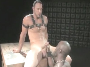 Horny male in hottest blowjob, interracial homosexual xxx video