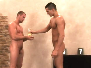Fabulous male in horny hunks, sports homo sex video