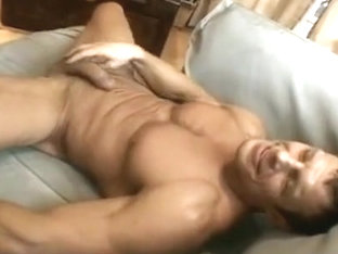 Muscular Hunk Spreadeagled And Whipped