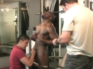 Sporty black gay cock sucked