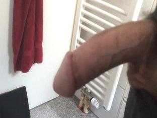 Cumming In Bathroom