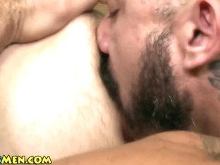 Hairy bear mounts stud