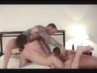 Ass fuck scene with two lustful gay hunks