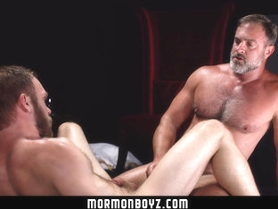 MormonBoyz - Sexy daddy priest punish fucks his subordinate for disobeying his orders