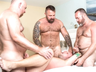 Sebastian Sax, Marc Angelo, Joe Hardness, and Guy English - BearFilms