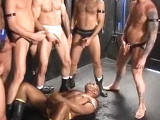 Rough and hard gay sex party