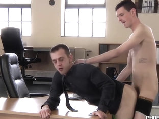 Office anal with young gays Dan Jenkins and Scott Williams