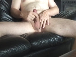 Danish husbond Playing with his cock