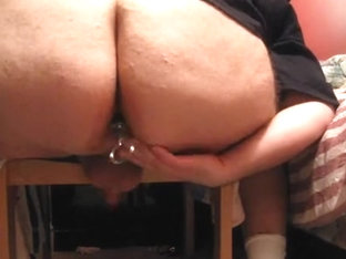 Bulky Arse Bear Sex Toy play and Cum
