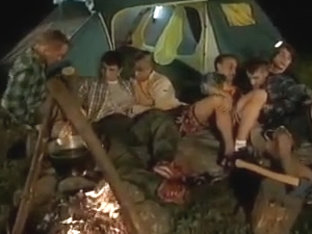 Twink orgy at camping