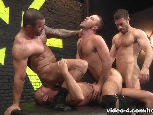 Alexsander Freitas & Blake Daniels & Josh West in Pack Attack 4: Parker Perry Scene
