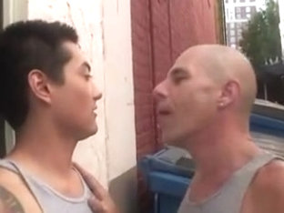 Asian gay sucks cock and fucks his bf in the butt