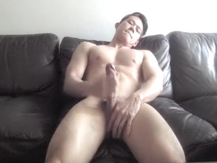 Sexy Ripped Asian Boy Wank And Cum