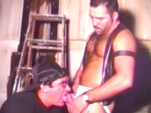 Muscular Cop Chokes Down A Mouthful Of Hard Dribbling Dick