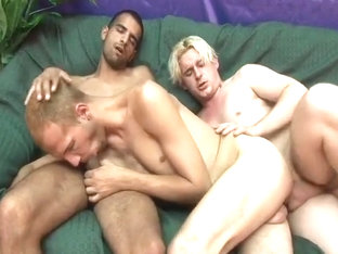 Submissive Stud Stuffed By Two Dicks
