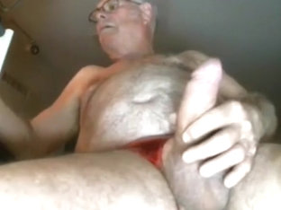 Grandpa cum on webcam 1