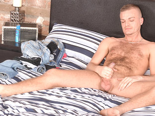 Stroking With Hairy Luke - Luke Stacks - BlakeMason