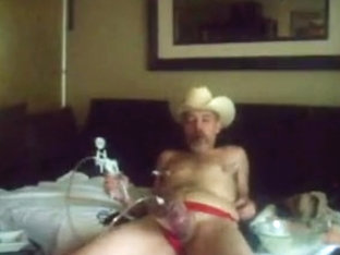 COWBOY SMOKIN' CIGAR AND PUMPING COCK/BALLS/NIPS