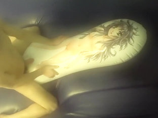 fucking asuka love pillow on waterbed 2