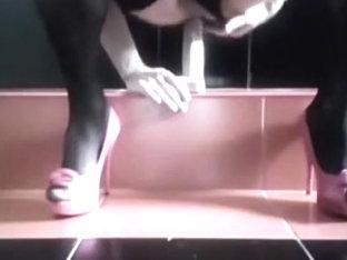 heels ando big dildo