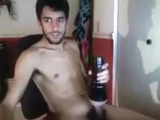 Hot Boy Fucks Flashlight