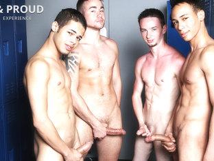Trent Jackson & Santiago Figueroa & Leo Sweetwood & Jonathan Cardona in Hung & Proud Video