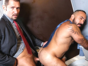 Andrew Justice & Alessio Romero in Men's Room Video