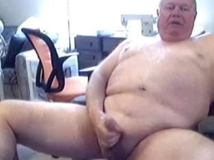 grandpa bear stroked cum on cam