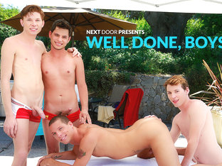 Landon Terry & Nick B & Jake Piper & Kaiden Haskins in Well Done, Boys XXX Video