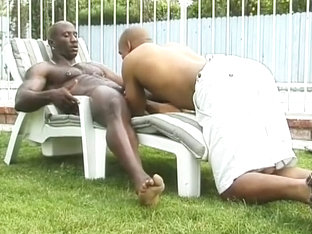 Gay Ebony Dick Sucking in the Sun