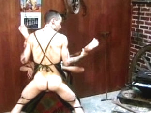 Crazy male pornstar in amazing rimming, leather homosexual sex video