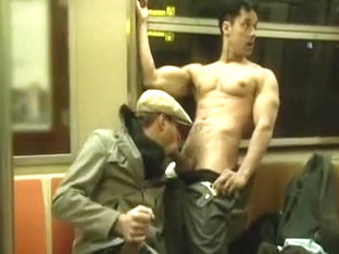Blowjob on the subway