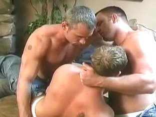 Three Friends Enjoy Each Other Intense