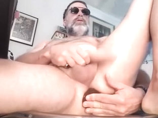 Sweet gay is jerking off within doors and memorializing himself on webcam