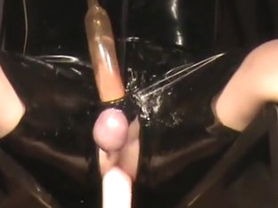 Latex Geared, machine drilled and milked