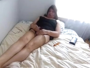 girlsy Cum In Nylons. Stroking so hard